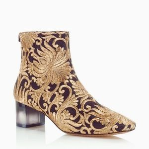 NWT Tory Burch Carlotta Embroidered Bootie